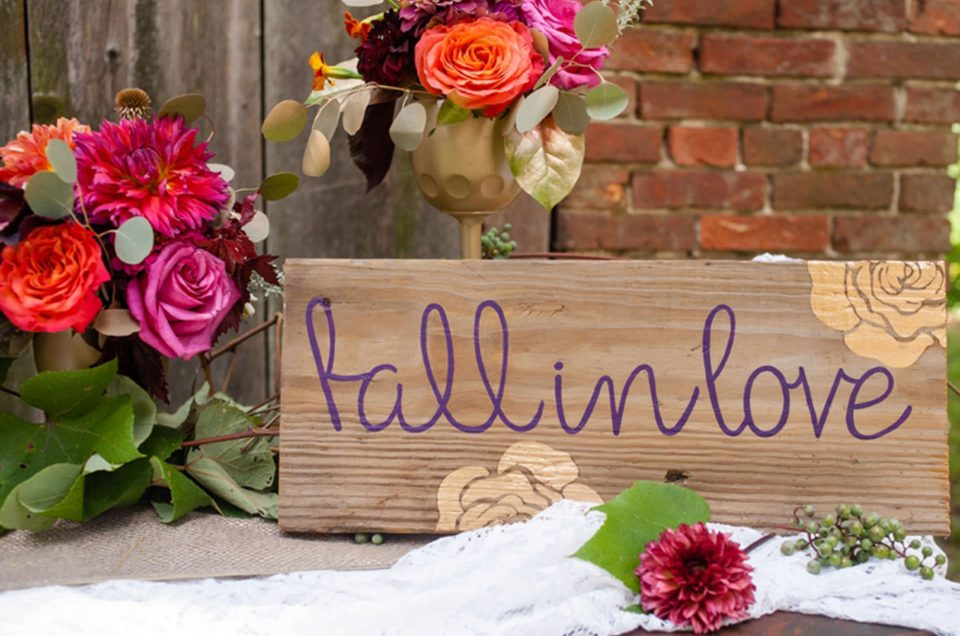 Fall in love! Inspiration board for a fall wedding