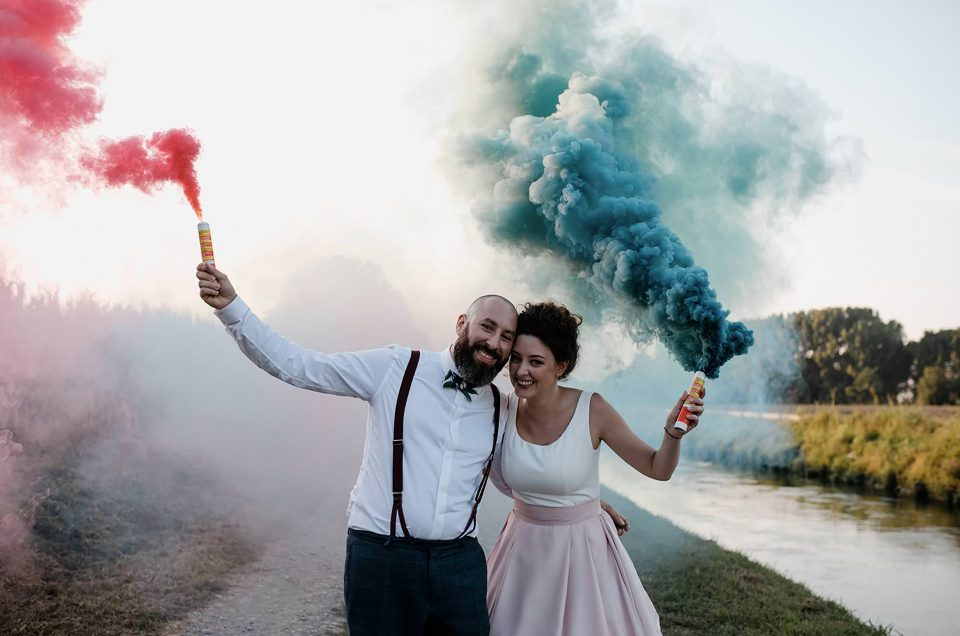 A barbecue wedding in the Italian countryside