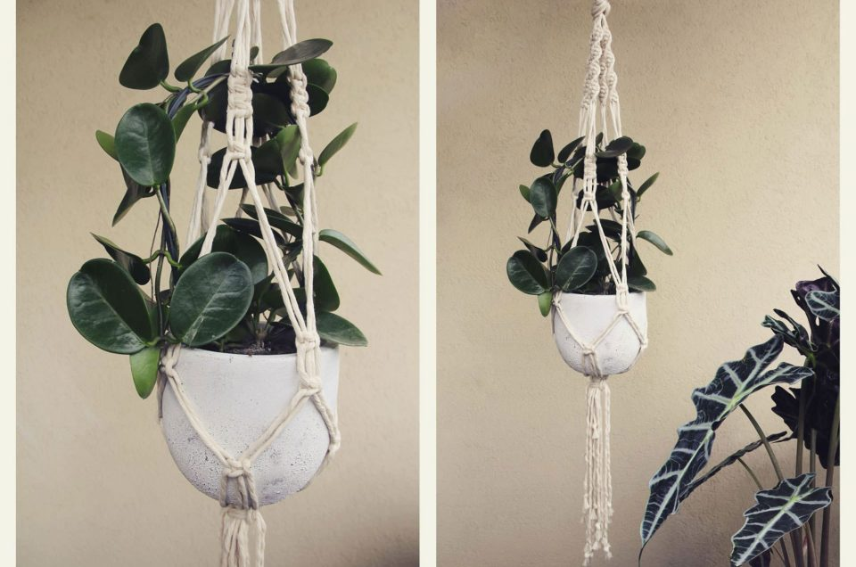 Unconventional Wedding: the macrame decorations by Forgetmeknot